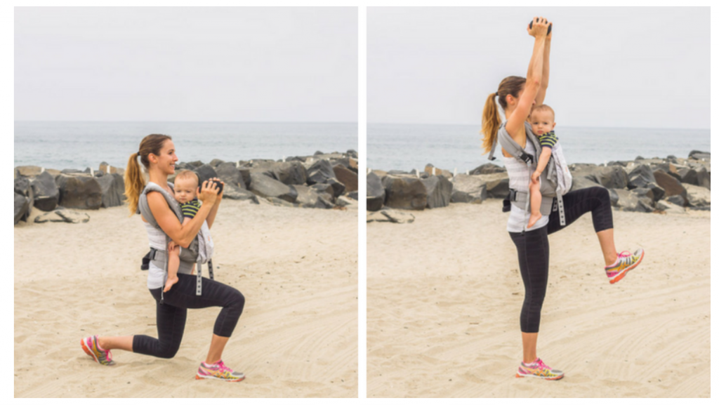 excercise with baby carrier