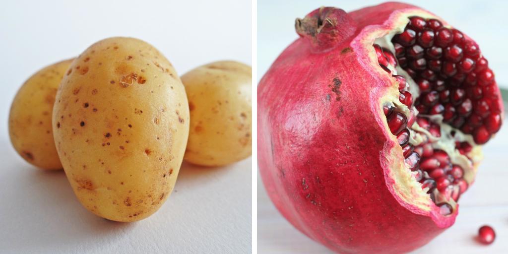 potato pomegranate